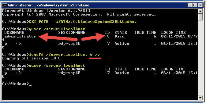 Using Command Prompt to log off terminal / Remote User - #vDM30in30 - @Saintdle